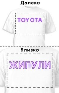 Футболка «Toyota» «Жигули»