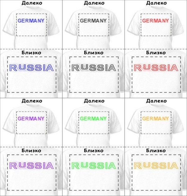Футболка «Germany» «Russia»