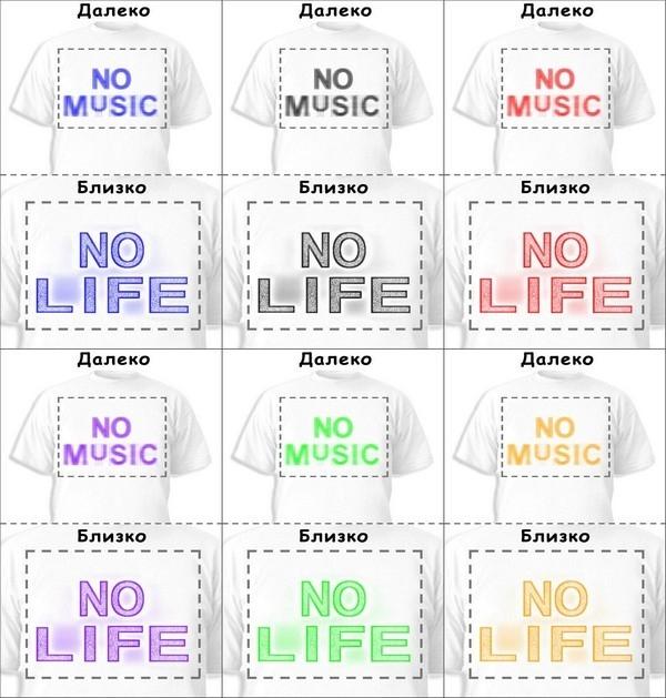 Футболка «No music» «No life»