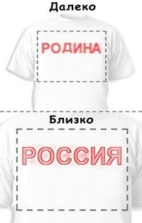 Футболка «Родина» «Россия»