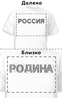 Футболка «Россия» «Родина»