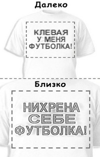 Футболка «Клевая у меня футболка!» «Нихрена себе футболка!»