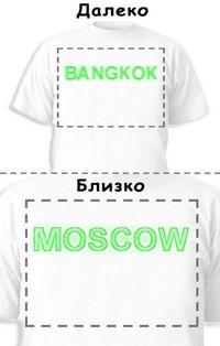 Футболка «Bangkok» «Moscow»