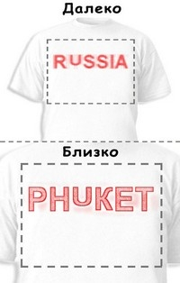 Футболка «Russia» «Phuket»