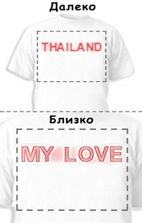 Футболка «Thailand» «My love»