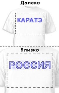 Футболка «Каратэ» «Россия»