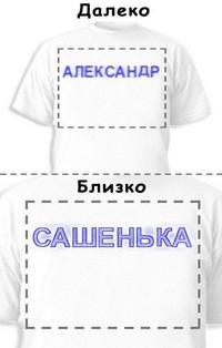 Футболка «Александр» «Сашенька»