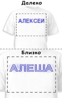 Футболка «Алексей» «Алеша»