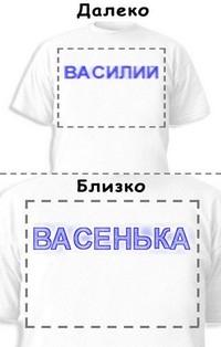 Футболка «Василий» «Васенька»