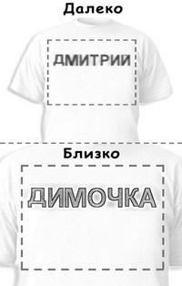 Футболка «Дмитрий» «Димочка»