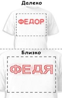 Футболка «Федор» «Федя»