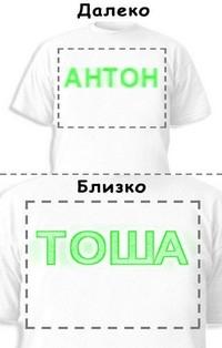 Футболка «Антон» «Тоша»