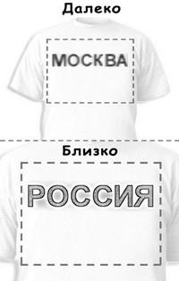 Футболка «Москва» «Россия»