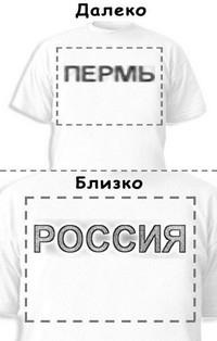 Футболка «Пермь» «Россия»