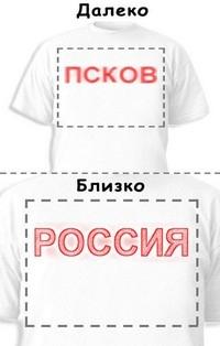 Футболка «Псков» «Россия»