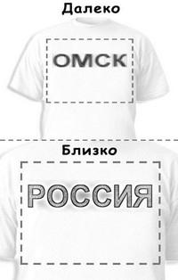 Футболка «Омск» «Россия»