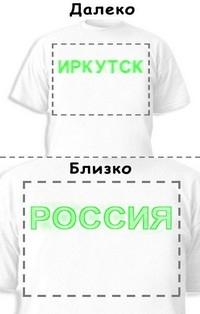 Футболка «Иркутск» «Россия»