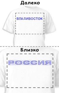 Футболка «Владивосток» «Россия»