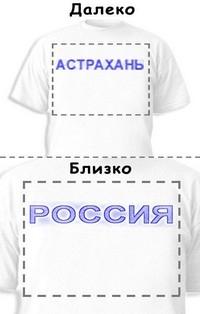 Футболка «Астрахань» «Россия»