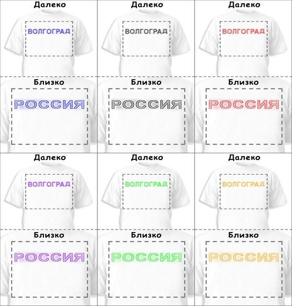 Футболка «Волгоград» «Россия»