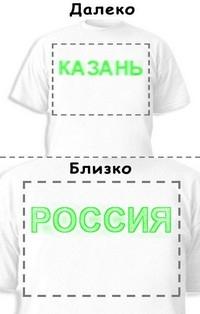 Футболка «Казань» «Россия»